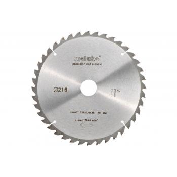 Пильный диск METABO HW/CT 216x30, 40 WZ 5°neg - Classic (628060000)